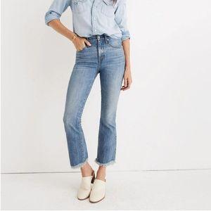 NWT Madewell Cali Demi Boot Jeans 32P